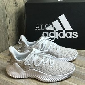 Adidas Alphabounce Trainer Beige White W AUTHENTIC